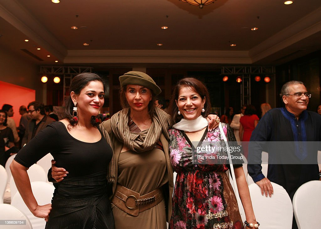 Socialite Parmeshwar Godrej with Kalli Purie and art conservationist Rekha Purie at the launch of Kalli Purie`s book Confessions of a Serial Dieter...