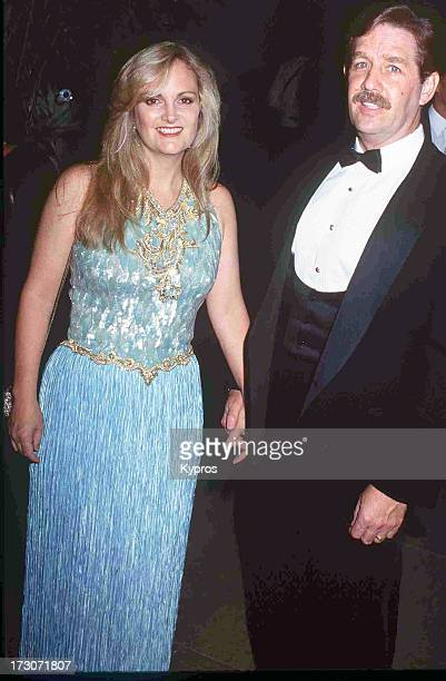 Socialite Patty Hearst and husband Bernard Shaw attending the 'Carousel of Hope Ball' on October 2 1992 at the Beverly Hilton Hotel in Beverly Hills...