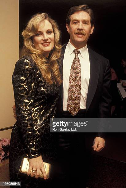 Socialite Patty Hearst and husband Randolph Hearst attending First Annual Joan Rivers Oscar Night Party on March 30 1992 at San Domenico in New York...