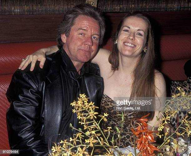 "Socialite Patty Hearst and Robert Ginty attending ""Birthday Party for R. Couri Hay"" on April 22, 1995 at the Gaugin Restaurant in New York City, New..."