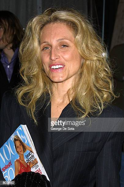 Socialite Pia Getty leaves the party following the premiere of 'Moulin Rouge' April 17 2001 in New York City