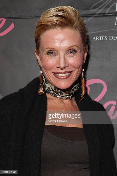 Socialite Raquel Bessudo attends the Barbie's 50th Anniversary Exhibition at Museo Franz Mayer on March 9 2009 in Mexico City