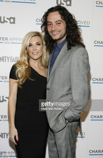 Socialite Tinsley Mortimer and musical artist Constantine Maroulis attend the 2nd annual Character Approved Awards cocktail reception at The IAC...