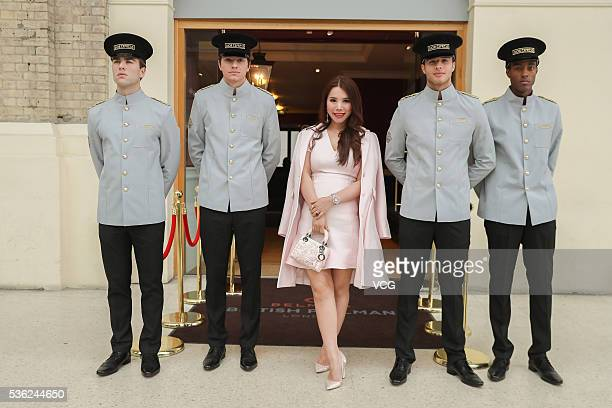 Socialite Wendy Yu arrives at Christian Dior spring/summer 2017 cruise collection at Blenheim Palace on May 31 2016 in Woodstock England