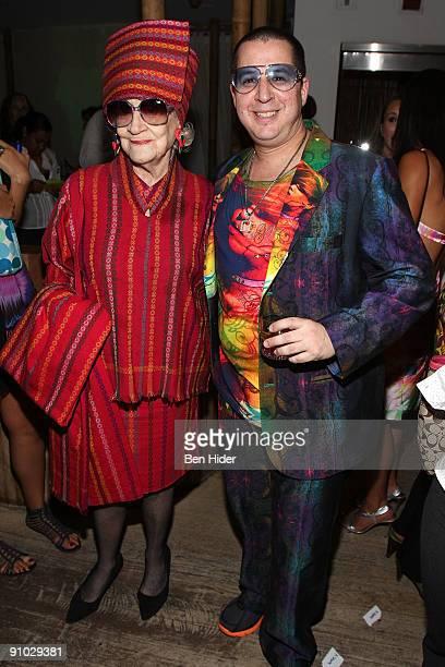 Socialite Zelda and designer Noah G Pop attend Project Sunshine's John Legend performance at Nikki Beach on September 22 2009 in New York City