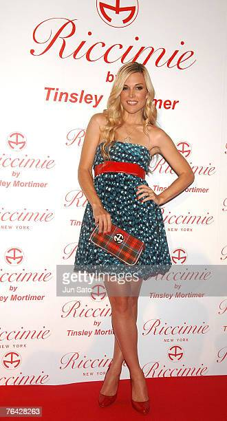 Socialite/designer Tinsley Mortimer attends the opening party for Samantha Thavasa's new apparel brand Riccimie NEW YORK on August 30 2007 in Tokyo...