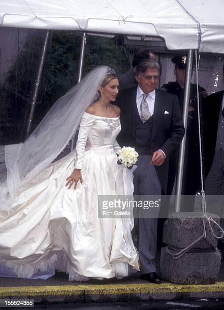 Socialites Alexandra Miller and Robert Miller attend Alex von FurstenbergAlexandra Miller Wedding Ceremony on October 28 1995 at St Ignatius Loyola...