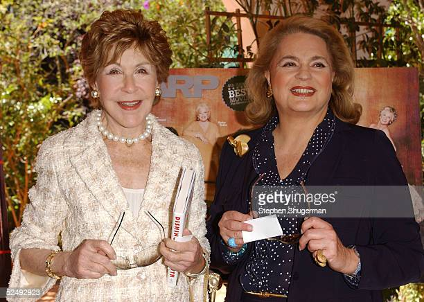 Socialites Betsy Bloomingdale and Princess Ira von Furstenberg attend AARP The Magazine's Hollywood issue celebration with guest Liz Smith author of...