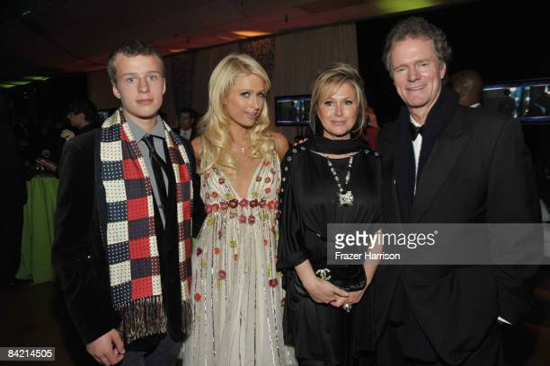 Socialites Conrad Hilton Paris Hilton Kathy Hilton and Rick Hilton attend the 35th Annual People's Choice Awards after party held at the Shrine...
