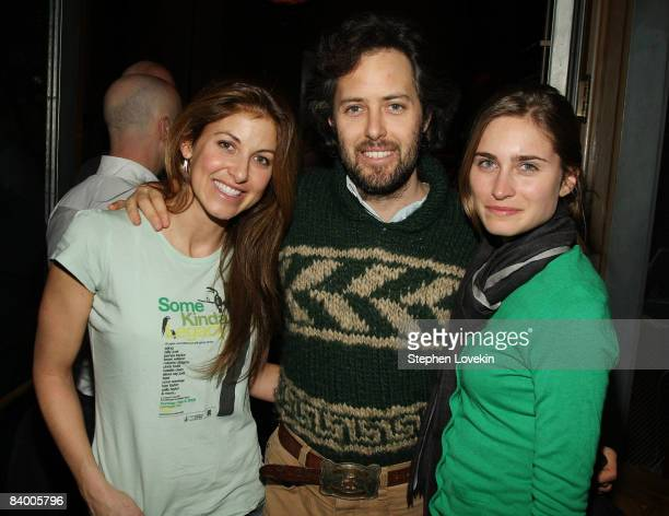Socialites Dylan Lauren David Lauren and Lauren Bush attend the after party for The Curious Case of Benjamin Button screening hosted by The Cinema...
