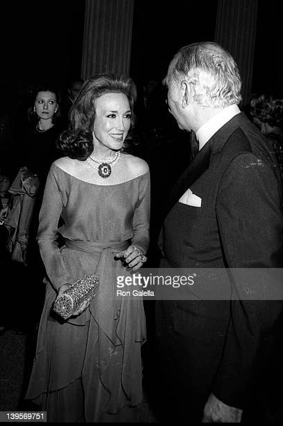 """Socialites Helen Gurley Brown and husband David Brown attend Metropolitan Museum of Art Costume Exhibit """"The Glory of Russian Costume"""" on December 6,..."""