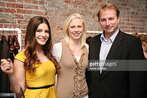 Socialites Julia Allison, Mary Rambin and Ben Widdecombe celebrates Sloane Crosley's I Was Told There'd Be Cake at Helmut Lang on April 22, 2008 in...
