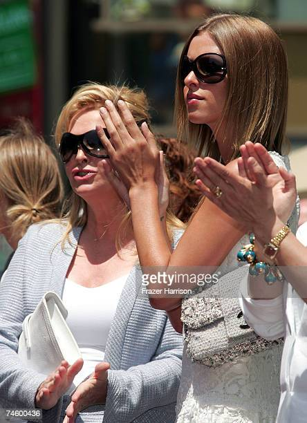 Socialites Kathy Hilton and daughter Nicky Hilton attend Television Personality Barbara Walters' ceremony honoring her with the 2,340th Star on the...