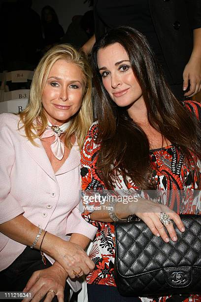 Socialites Kathy Hilton and Kyle Richards frontrow and backstage at Chick by Nicky Hilton Spring 2007 collection during Mercedes Benz Fashion Week...