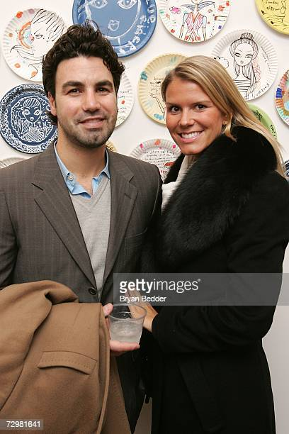 Socialites Keith Ramstell and Erica Noble attend the A Piece of Fulvimari opening reception for artist Jeffrey Fulvimari at Gallery Hanahou on...