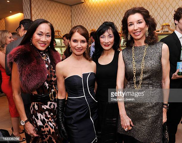 Socialites Lucia Hwong Gordon Jean Shafiroff Patricia Shiah and Fay Fendi attend a cocktail reception for Tracy Paul And Company Presenting...