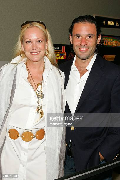Socialites Nina Griscom and Leonel Piraino attend a special screening of Hollywoodland at the Southampton U/A Theater on July 30 2006 in Southampton...