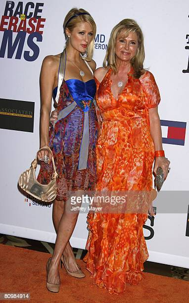 Socialites Paris Hilton and Kathy Hilton arrive at the 15th Annual Race To Erase MS on May 2, 2008 at the Century Plaza Hotel in Century City,...