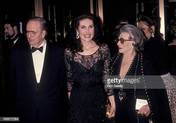 Socialites Randolph Hearst and wife Veronica Hearst and designer Pauline Trigere attend Council of Fashion Designers of America Gala Honoring Pauline...