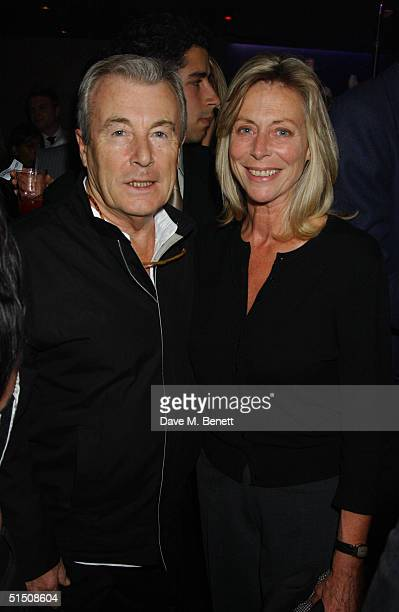 Socialites Terry O'Neil and Lorraine Ashton attend the launch party for British designer Janet Reger's new lingerie line Naughty Janet at No 5...