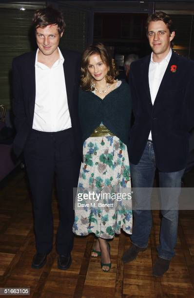 Socialites Zac Goldsmith Sheherazade Goldsmith and Ben Elliot attend the party celebrating the launch of Tom ParkerBowles new book ' E Is For Eating'...