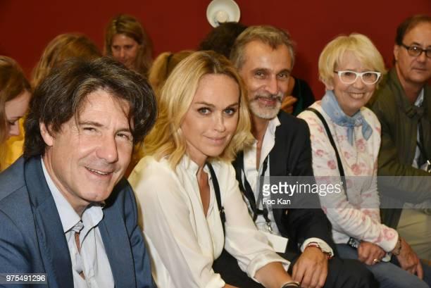 Socialogist Ronan Chastellier from Sud Radio TV presenter Cecile de Menibus Salon de La Patisserie Show co founder Thierry Marques and...