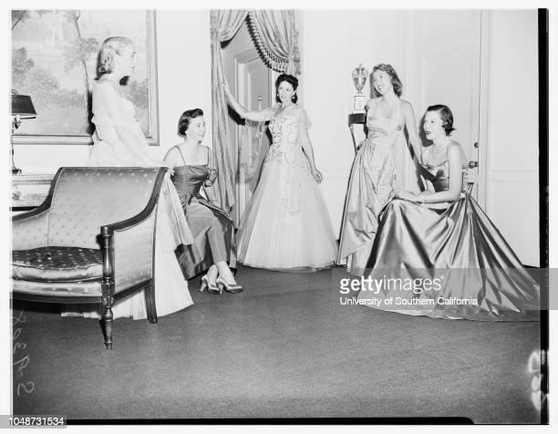 Society 18 September 1951 Mrs Kenneth PingreeMrs Patrick DohenyMrs Paul CumminsMrs Albert Ralphs Junior Mrs Carey Baldwin Caption slip reads...
