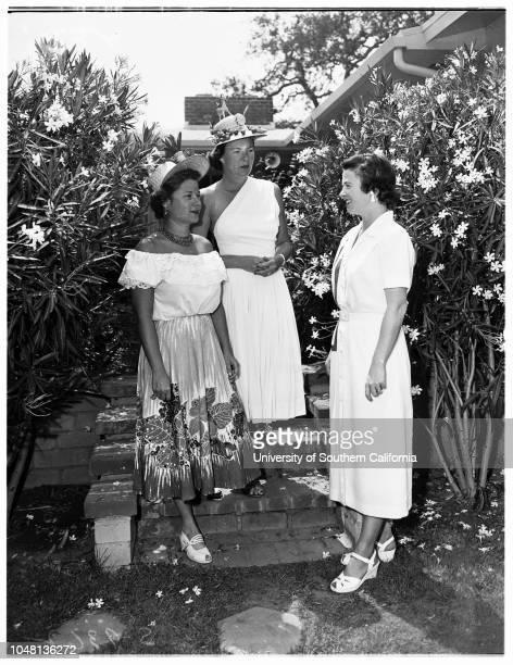 Society 22 August 1951 Mrs Alfred Freeman JuniorMrs John N MitchellMrs James CameronMrs Roland G Wood JuniorMrs Horace ProulxMrs Robert GlassMrs J...