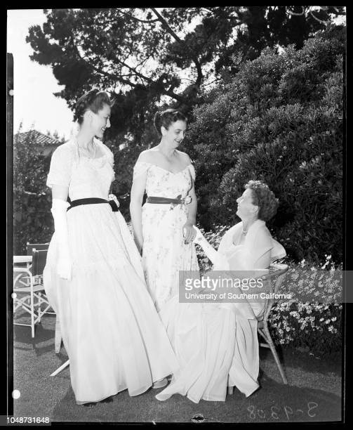 Society 22 May 1951 Mrs Paul FosterMrs J Norman O'NeillMrs Lee SpeightsMrs Donald R Philips JuniorMrs Creed CherryMrs Marilyn GillespieMrs Gerald F...