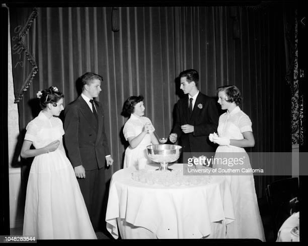 Society , 9 June 1952. Michael O'Neil;Ellen Donaldson;Michael McCallum;Carole Costello;David Noyes;Linda Flynn;Mary Robin Redd;Lew O'Connell;Jack...