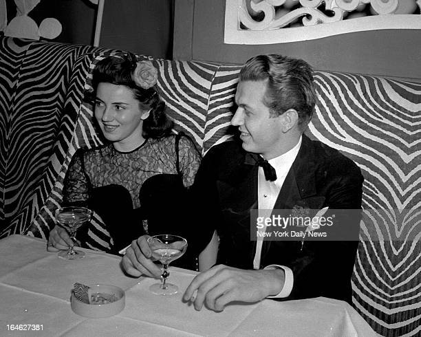 Society bay Robert Goelet Jr is pictured at El Morocco Night Club with Jane Munroe of Boston Mass /NY Daily News via Getty Images