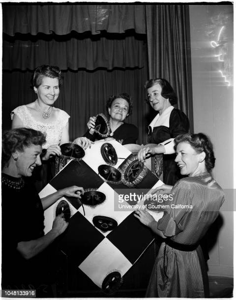 Society Beverly Hills Women's Club 12 October 1951 Mrs Robert McComasMrs Walter J MoniaMrs John H NuttMrs Edward FinneranMrs Charles H Jeffries...