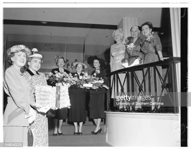 Society bookworms meeting June 15 1951 Mrs Ivan WellsMrs Alan MorganMrs Harold C RamserMrs Erwin C NesserMrs Pierre GallantMrs John F RoneyMrs...