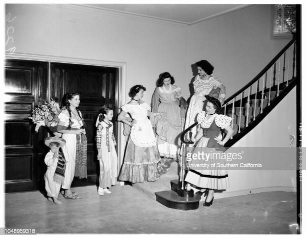 Society Damas Pan Americanas May 25 1951 Antonio Juan MorenoElenita MorenoBrenda SongJeannette RossAnna Maria ArceAna Victoria JumenezDenis ReidMore...