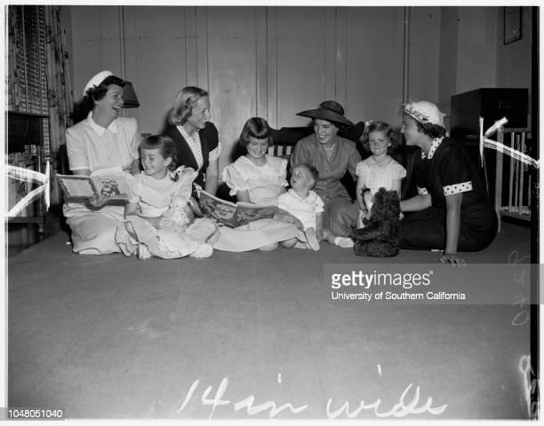 Society Friday Morning Club 10 July 1951 Mrs R Boone OliverMrs Cyril HanlonMrs William H CarnallMrs Arthur L ShellhornMrs Carl T FetterlyMiss...
