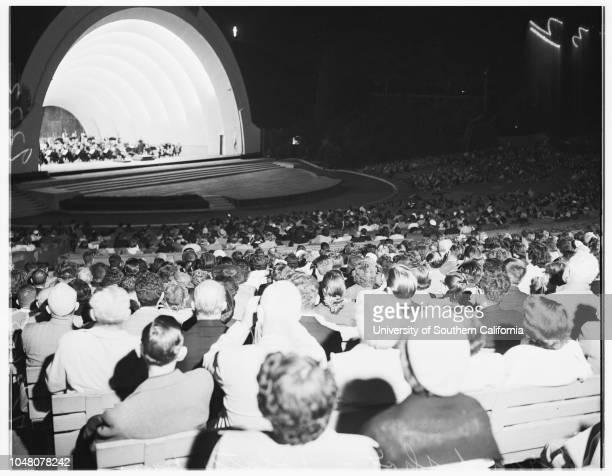 Society Hollywood Bowl 26 July 1951 Mrs Albert LelandMrs Edward CurrierMr and Mrs Alfred WallensteinMiss Ana MahlerJohn ArensonaMadamme Alma Mahler...