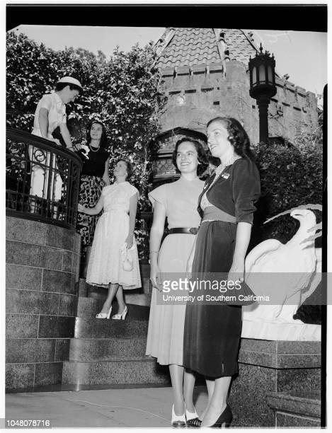 Society Los Angeles Orphans Home 1 August 1951 Mrs Harold McAlisterMrs Robert MeylerMrs John ConsidineMrs Jose R LacayoMrs Frank SeaverMrs Sven...