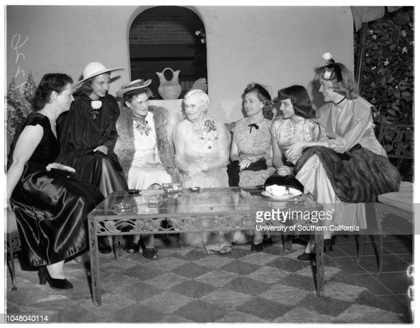 Society May 13 1951 Behymer receptionDiane De VrahnosJean MalcolmDelphine Wagner SmithMrs LE BehymerBeverly MoodyEleana De VrahnosAnn DavisMore...