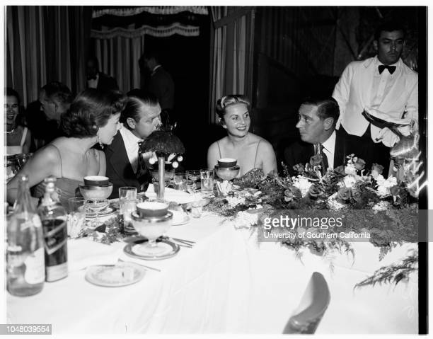Society Mocambo cafe party July 10 1951 Mr and Mrs Neil McCarthy JuniorWalter P Chrysler JuniorMary MorrisonCountess Betsy Con FurstenbergPeter...