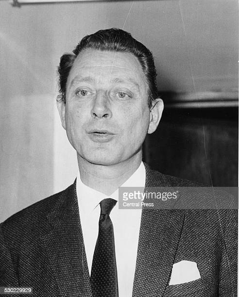 Society osteopath Dr Stephen Ward a leading figure in the Profumo Affair outside his home in Bryanston Mews Marylebone London June 6th 1963