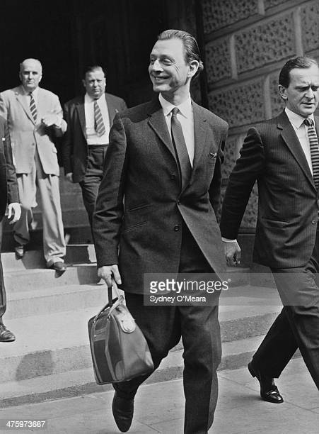 Society osteopath Stephen Ward leaving the Old Bailey during his trial on charges of living off the profits of prostitution London 24th July 1963 The...