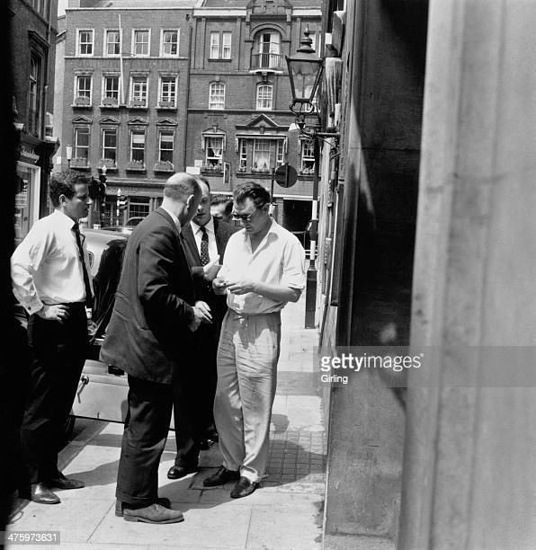 Society osteopath Stephen Ward outside a London police station after his arrest on charges of living off the profits of prostitution 8th June 1963