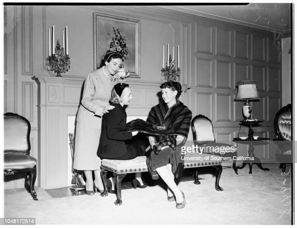 Society Sisterhood of Temple of Israel [sic] Planning Luncheon and Fashion Show 19 November 1951 Mrs Sanford AdlerMrs Sherman KleinMrs Max Messbaum...