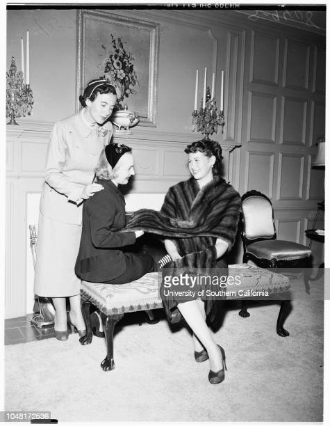 Society Sisterhood of Temple of Israel [sic] Planning Luncheon and Fashion Show 19 November 1951 Mrs Sanford AdlerMrs Sherman KleinMrs Max Messbaum...