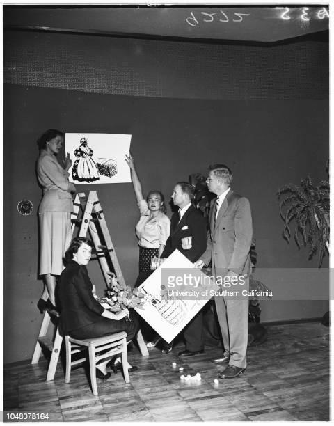 Society -- Sunset Club benefit, 03 August 1951. Miss Kay Kelly;Dick Jackson;Miss Joyce Dayton;Ollie Garver;Alden Pearce;Sheila Torrance;Joan...