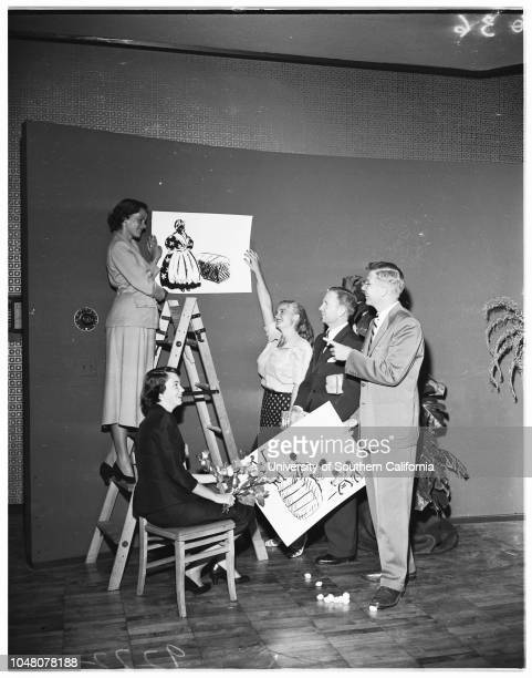 Society Sunset Club benefit 03 August 1951 Miss Kay KellyDick JacksonMiss Joyce DaytonOllie GarverAlden PearceSheila TorranceJoan WinchellRick...