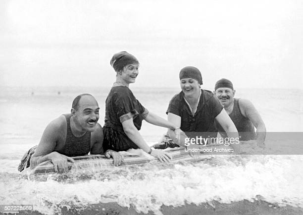 Society wintering at Palm Beach Harry Hoy of New York Annah Slattery of Providence and Mr and Mrs Edward P Kennedy of Boston enjoy the latest Florida...