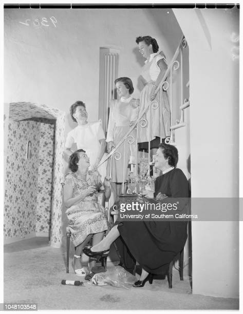 SocietyFlower Guild Women planning party 17 September 1951 Mrs Mary Sykes LehmannMrs Irmin RobertsMrs Glen A RansomMrs Charles B GarretsonMrs Edward...