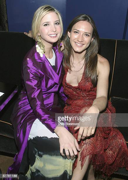 Socilaties Ivanka Trump and Zanie Gugelmann attend the Young Friends After Party at Frederick's on May 9 2005 in New York City