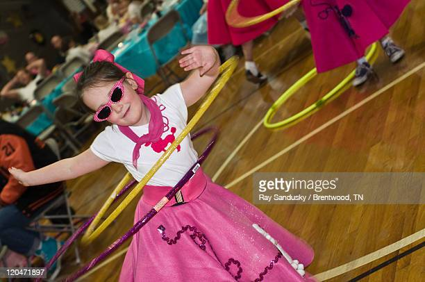 sock hop dance girl - poodle skirt stock photos and pictures